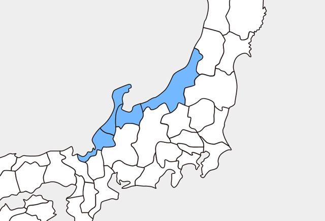北陸地方(北陸4県)