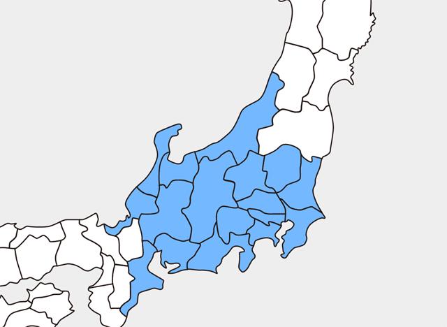 気象庁による「東日本」