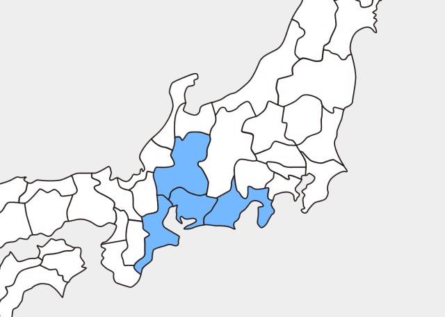 東海地方(東海四県)